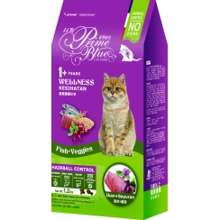 LCB Prime Blue Wellness Cat Food - Hairball Control Recipe (Fish + Veggies)